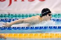 男子100メートルバタフライ(視覚障害S11) 1分2秒26の木村敬一=セントラルスポーツ宮城G21プール