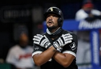 ア・リーグでMVPに輝いたホワイトソックスの内野手アブレイユ(AP=共同)