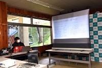 スキー場共通の安全ルールを発表するハクババレーツーリズムの関係者