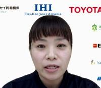 オンラインで取材に応じる車いすバスケットボール女子日本代表の藤井郁美主将=9日午後