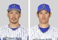 DeNAの梶谷隆幸外野手、井納翔一投手
