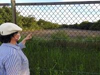陸上自衛隊立川駐屯地に残る米軍立川基地時代の滑走路跡=ことし8月、東京都立川市