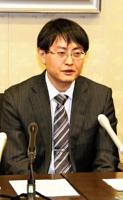 県内経済について語る大川支店長