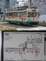 最古参の7000型(上)、富山駅を境に左右両側の区間が直通となった(下)