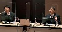 日本感染症学会のシンポジウムに参加する東北医科薬科大の賀来満夫特任教授(右)=9日
