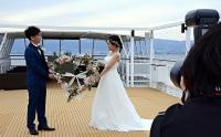 プランでは遊覧船上で記念写真も撮れる