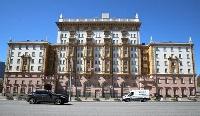 モスクワにある米国大使館=10日(タス=共同)