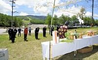 関係者が安全を祈願した湯の丸高原の山開き