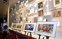 「信州・まつもと大歌舞伎」で上演された演目の浮世絵の展示