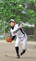 投手・一塁手では左投げの北沢さん
