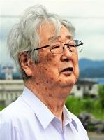 市有地にある神社の違憲訴訟に挑んだ元教員の谷内栄=ことし6月21日、北海道砂川市