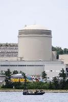 再稼働した関西電力美浜原発3号機=6月23日午前、福井県美浜町