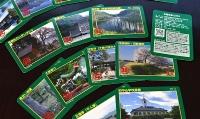県内各地の災害に関連した史跡や祭りなどを紹介した「災害伝承カード」