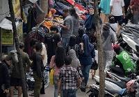 インドネシアの首都ジャカルタにある伝統的な市場