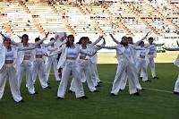 サンプロアルウィンで息の合ったダンスを披露する伊那弥生ケ丘高校ダンス部
