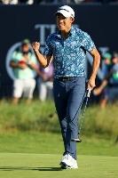 男子ゴルフの全英オープン選手権で優勝を果たしたコリン・モリカワ=18日、英サンドイッチのロイヤルセントジョージズGC(ゲッティ=共同)