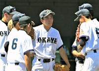 17日の準々決勝に先発した主将の高橋さん