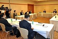 次期衆院選に向け、自民党が北陸信越5県の幹事長らを集めた会合=28日、長野市