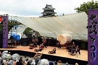 迫力ある太鼓の音が響いた「国宝松本城太鼓まつり」