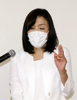 日本科学未来館で記者会見し、抱負を語る浅川智恵子館長=25日午後、東京都江東区