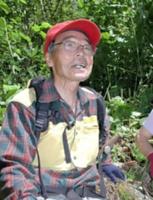 古道復活に取り組んでいた頃の松沢さん=2007年