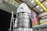 米スペースXの宇宙船クルードラゴン(同社提供・共同)