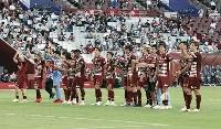 J1 神戸―浦和 浦和に勝利し喜ぶ神戸イレブン=ノエスタ