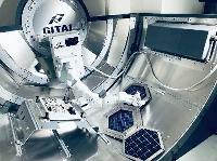 地上実験で作業するギタイジャパンのAIロボット