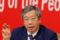 中国人民銀行(中央銀行)の易綱総裁=2019年9月、北京(ロイター=共同)