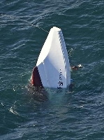 貨物船と衝突した遊漁船「第5不動丸」=2020年11月、茨城県の鹿島港