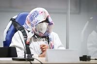 19日、独北部イツェホーの裁判所に出廷した96歳の女性被告(AP=共同)